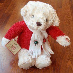 "14"" Hallmark Plush Christmas Jingle Bear - NEW"